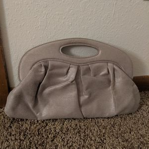 Silver/Taupe Clutch